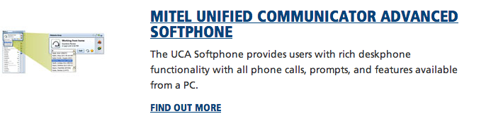 Mitel Unified Communicator Advanced Softphone